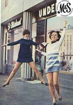 Marks and Spencer vintage 1960s. Costumes for teens: young, dynamic and comfortable!