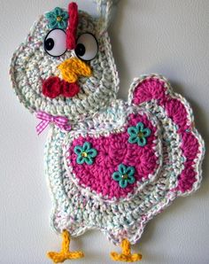 Crochet chicken, by Jerre Lollman