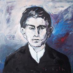 Detlev Foth / Kafka 2005 (70 x 70 cm) Öl auf Leinwand