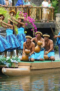 Polynesian Cultural Center on Oahu, Hawaii, Traditional Hawaiian Luau
