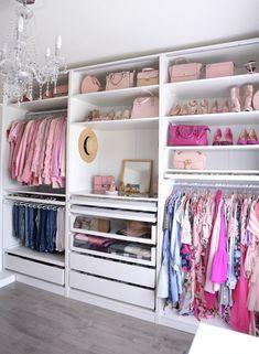 Helpful Closet Organization Tips Featuring The IKEA Pax Wardrobe – Hanger closet Ikea Pax Closet, Ikea Pax Wardrobe, Wardrobe Room, Closet Hacks, Closet Organization, Wardrobe Storage, Walk In Closet Ikea, Clothing Organization, Closet Space