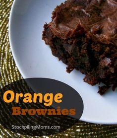 Orange Brownies - Love this recipe using wild orange essential oil