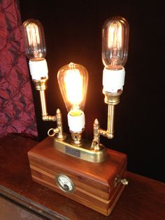 Handmade Steampunk industrial lamp made from by LaBoutiqueVapeur