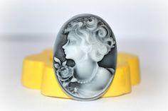0889 30x40mm Classic Woman Cameo Silicone Rubber by MasterMolds