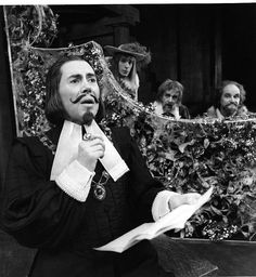 Brian Bedford as Malvolio in Twelfth Night 1975 with Frank Maraden, Lewis Gordon and Leslie Yeo photo by Robert C Ragsdale, Stratford Shakespearian Festival, Read articles at: http://www.whattravelwriterssay.com