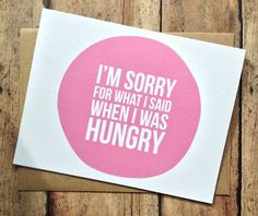 Story of my life. If I'm on the phone with my husband and crabby, he usually asks if I'm hungry.
