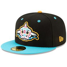 a49b33e4304d58 Men's Carolina Pescados New Era Black/Blue Copa de la Diversion 59FIFTY  Fitted Hat, Your Price: $37.99