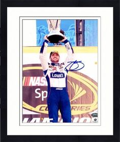 Autographed Jimmie Johnson Picture - Framed 8x10 - GA Certified - Autographed NASCAR Photos by Sports Memorabilia. $124.98. Jimmie Johnson Signed Photo - 8x10 GA. item like this traditionally increase in value, making it a good buy. Crystal clear signature. Everything we sell has been evaluated for quality by our dedicated staff of sports fans. Each piece in this edition comes with a SportsMemorabilia numbered hologram to certify authenticity. Collectors love quality pie...