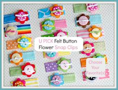 U PICK  Everyday Button Flower Hair Clips / by ELLEigatorClips