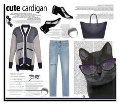 """""""My Favorite Cardigan"""" by krischigo ❤ liked on Polyvore featuring FabFunky, STELLA McCARTNEY, Yves Saint Laurent, Prabal Gurung, La Femme, Shiseido, casualoutfit, personalstyle and mycardi"""