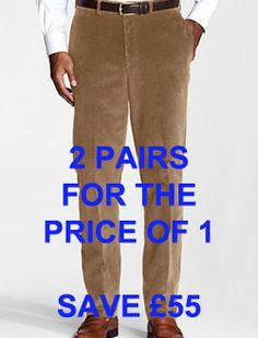 Mens Cord Trousers, Great Father's Day Gifts, Fathers Day Gifts, Corduroy, Competition, Menswear, Plus Size, Pairs, Beige