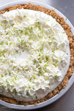 Frozen Margarita Pie with a Pretzel Crust ~ a wonderful light, creamy grown-up dessert that is incredibly easy to make with just a few tasty ingredients. Margarita Pie, Margarita Recipes, Pretzel Crust, Frozen Margaritas, Pie Crust Recipes, Pie Crusts, Most Delicious Recipe, Ice Cream Desserts, Sweet And Salty