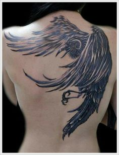 This Crow tatoo is so cool!