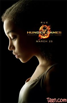 Rue. Hunger Games character movie posters.