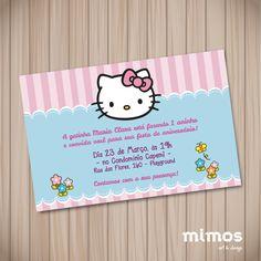 Convite Digital - Hello Kitty