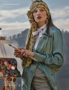 In love with this head scarf <3 Liz Kennedy by Fabrizio Scarpa for Design Scene