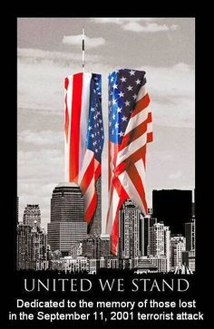 United we stand. American flag and World Trade Center World Trade Center, Trade Centre, I Love America, God Bless America, Awesome America, America America, American Flag, American History, American Pride