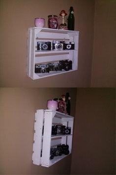 shelf fruit box diy półka ze skrzynki na owoce