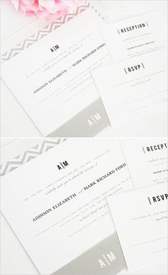 modern wedding invite @Modern Wedding #grayinvitations #shineinvitations http://www.weddingchicks.com/2014/01/14/shine-wedding-invitations/