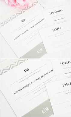 modern wedding invite @Modern Wedding #grayinvitations #shineinvitations http://www.weddingchicks.com/2014/01/14/shine-wedding-invitations/