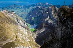 Säntis Blick auf den Seealpsee | von doblerphoto.ch Half Dome, My Photos, Mountains, Nature, Travel, Naturaleza, Viajes, Trips, Nature Illustration