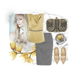"""Shic grey with jewellery"" by kattjaf on Polyvore"