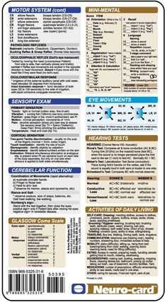 Neuro-card The Neurogical Examination 2