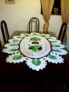 Home Decor Crochet Patterns Part 97 - Beautiful Crochet Patterns and Knitting Patterns Crochet Stitches Patterns, Thread Crochet, Crochet Motif, Stitch Patterns, Knitting Patterns, Lace Doilies, Crochet Doilies, Crochet Lace, Crochet Table Runner