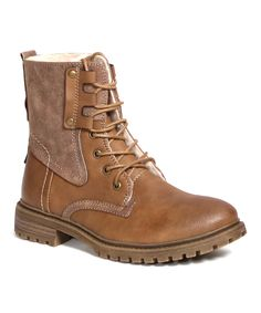 Brown Lace up Calista Boots with warm and cozy interior!