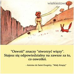 Oswoić znaczy stworzyć więzy... #SaintExupery-Antoine-De, #Miłość, #Relacje-międzyludzkie Poetry Quotes, Book Quotes, Words Quotes, Love Me Quotes, True Quotes, Love Breakup, Cool Lyrics, Some Text, Sad Love