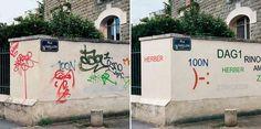 Het probleem met graffiti en tags is dat het vaak onleesbaar geschreven is. De Franse Mathieu Tremblin doet daar wat aan. Nu weten we ook weer wat ze willen zeggen.