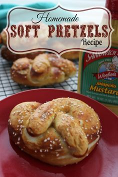 Homemade Soft Pretzels Recipe! Love this Party Recipe for the Super Bowl! Easy Appetizer Recipe for the Big Game!