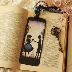 Bookmark - iIlustrated bookmark - Lovers - Miss Shadow - Le rendez-vous