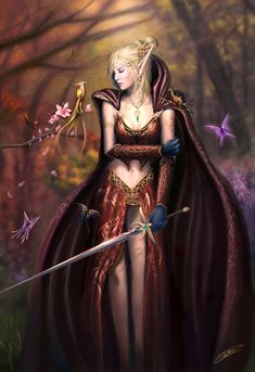 Fantasy Woman w/Sword photo fantasy-girl-sword. Elf Warrior, Warrior Girl, Fantasy Warrior, Warrior Princess, Warrior Queen, Fantasy Art Women, Fantasy Girl, Elf Art, Female Elf