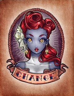CHANGE pinup Art Print by Tim Shumate