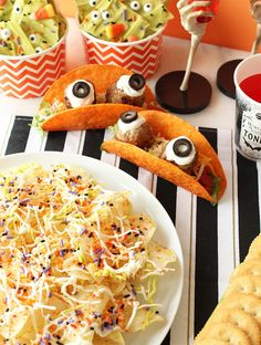 Nacho cheese monster tacos are a favorite on our Halloween recipe table! | Eat Pretty