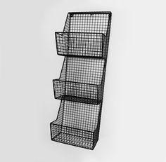 Cesto Vertical 3 andares 3 nichos em aramado de alta resistência Pintura Eletrostática (Não Enferruja)