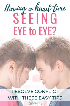 When it comes to conflict do you have a hard time seeing eye to eye? Learn more about resolving conflict in a healthy way. Peaceful Parenting, Gentle Parenting, Parenting Teens, Parenting Hacks, Change Is Hard, Raising Godly Children, Conflict Resolution, Human Emotions, Thought Process
