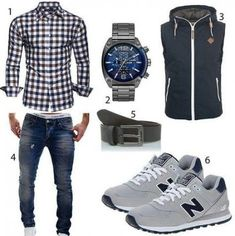 Clothes moda hombre 37 Ideas for 2019 - HerrenMode Outfit Grid, Mode Masculine, Casual Wear, Casual Outfits, Men Casual, Mode Outfits, Fashion Outfits, Fashion Styles, Men's Apparel
