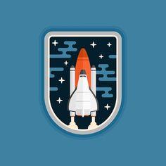 Space shuttle concept vehicle badge design