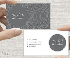 Business Card, Wood Stump Line Design. Custom Colors. Printable Digital Download, Horizontal Double sided