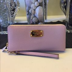 Michael kors travel continental wallet Brand new with tags 100% authentic pink blossom pebbled leather Michael Kors Bags Wallets