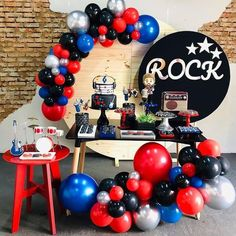 how to organize creative ideas (PHOTOS) - Birthday FM : Home of Birtday Inspirations, Wishes, DIY, Music & Ideas Boys 1st Birthday Party Ideas, Baby Boy 1st Birthday, First Birthday Parties, First Birthdays, Festa Rock Roll, Rock And Roll Birthday, Grease Party, Rock Star Party, Music Party