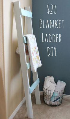 Easy $20 Blanket Ladder DIY