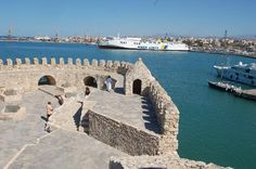 Heraklion, Greece: View across the harbour