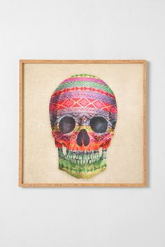 Terry Fan For DENY Skull Framed Wall Art