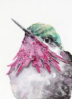 This face! Watercolor Birds by Karolina Kijak