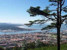 Cidade de Viana do Castelo, vista do monte Santa Luzia