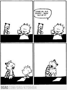 The last ever Calvin & Hobbes Comic..
