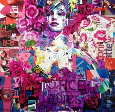 paper collage art by Derek Gores - Beverly is in love with this kinda art!